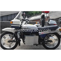 Electric Motorcycle with Sidecar-Police Style