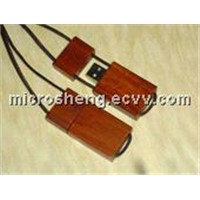 Field Wood Pen Drive with Lanyard