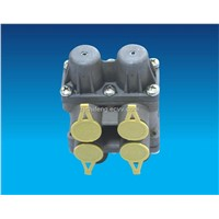 Four circuit protection valve for truck
