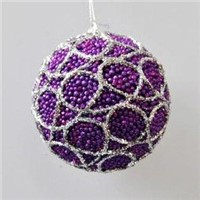 Glitter Christmas Ball Ornament