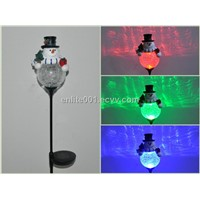 Holiday Light,Led Solar Garden Light With Glass Ball For Christmas Manufacturer