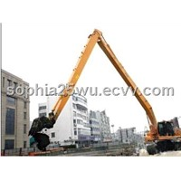 Hitachi excavator long reach boom and arm