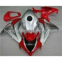 Honda CBR1000RR Fireblade 2008-2009 Red and Silver Motorcycle Fairings