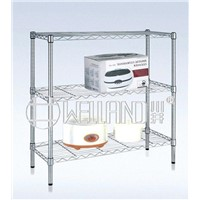Hot 3 Tiers Light Duty Home Chrome Wire Shelving
