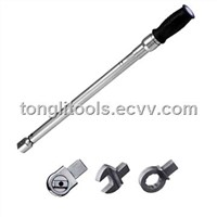 Interchangeable torque wrench