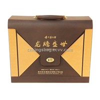 Luxury PU Leather Wine Box for Two Wine Bottle