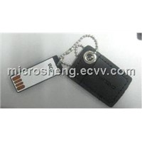 Min Leather Pouch USB Flash Memory