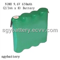 NI-MH 9.6V 650mAh Rechargeable Battery Pack