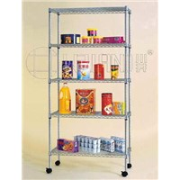 NSF Chrome Metal Storage Shelf Rack