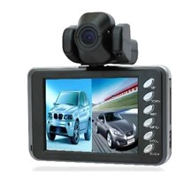 New HD 720P Dual Camera DVR Vehicle Car Camera DVR Dashboard Recorder+H.264+2 Channel