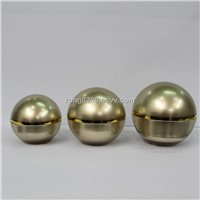 New Polypropelene Ball shape Jars in A Gold Metalised Case