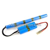 NiMH battery pack10.8v 9x4/5A 2000mAh for airsoft gun