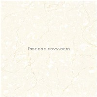 Polished porcelain tile-soluble salt