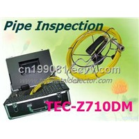 Professional CCTV Underwater Video Pipe Inspection Camera, Sewer Drain Camera with DVR TEC-Z710DM