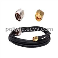 RF pigtail cable with SMA connector
