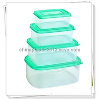 Rectangle commercial plastic food containers with four suit