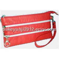Red White Zipper Bag