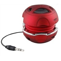 Red color hamburger mini speaker with volume control
