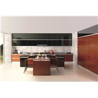 Rose Wood Crystal Kitchen Cabinet (VF-GQ002)