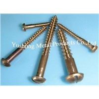 Silicon Bronze Slotted Round Head Wood Screw from 4g to 16g