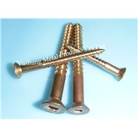 Silicon Bronze Square Drive Flat Head Wood Screw from 4g to 24g