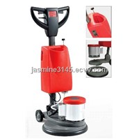 Single disc hard floor scrubber