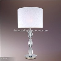 TL-028-Table Lamp with White Silk Lampshape