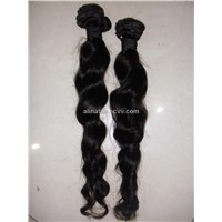 Wholesale human hair Bulk hair Weft: 100% Human straight/wave/wavy/Curly hair/ natural color