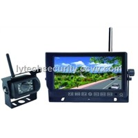 Wireless Car Camera System with Wireless Monitor and Backup Waterproof Camera (LY-CWKITS01)
