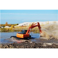ZD200--16tons Amphibious Excavator Pontoon Sale in Russia