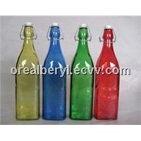 color swing top glass bottles