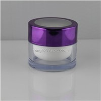 cosmetic jar with windows on top lid