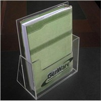 desktop clear acrylic brochure holder