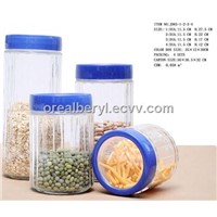 Glass Jars with Plastic Lid