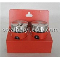 glass spice jars with stand