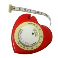 heart-shaped bmi tape measure,body measurement tools,promotional gift