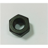 heavy hex sturctural Nuts with black finish ASTM A563