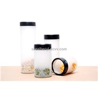 Large Frosted Glass Storage Jar