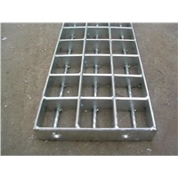 plain galvanized platform steel grating