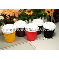 reusable silicone coffee cup with lid
