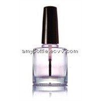 round nail polish glass bottle