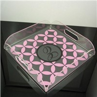 transparency acrylic service tray