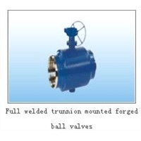 trunnion mounted forged ball valve