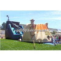 Cheap Inflatable Zip Line Bouncy with Slide