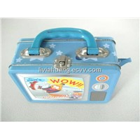 tin lunch boxes with handle
