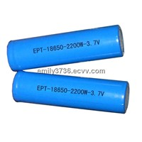 3.7V 2000mAh / 2200mAh Cylindrical rechargeable 18650 computer battery