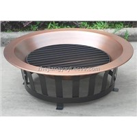 40-Inch Copper Fire Pit with Mesh Rim