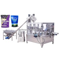 Auto stand up bag powder auger filling sealing machine