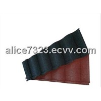 Building material stone coated metal roofing tile
