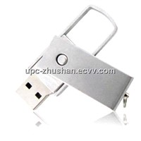 Gifts Comparable Price Metallic Swivel USB Flash Driver